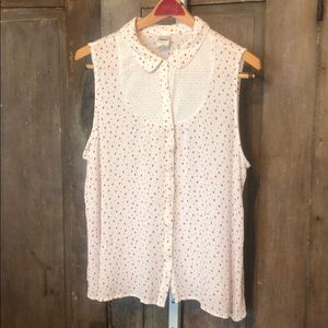 Sleeveless buttonup shirt Lauren Conrad for Disney